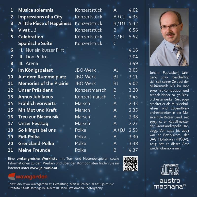 JPMusic BestOf CD Rückseite